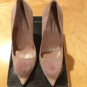 Cesare Paciotti soft pink suede pumps size 37.